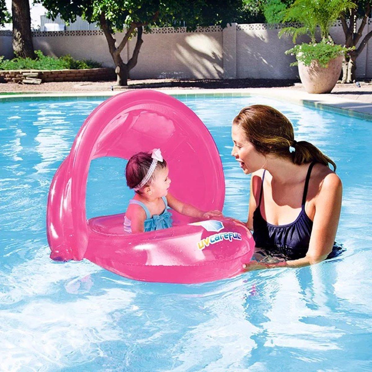 Zwemtrainer Baby drijfband Zwemband Baby boot roze