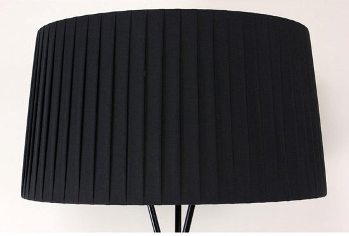 Bol.com cole tripod design staande lamp chroom zwart Ø60cm