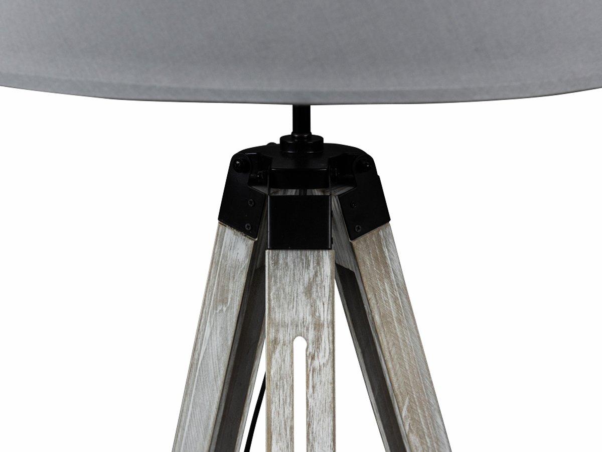 Bol.com lanterfant® lamp leen lichtgrijs driepoot staande lamp