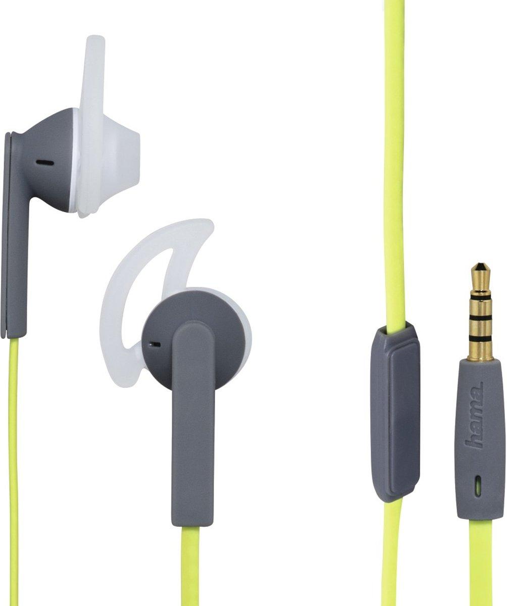 """Hama Stereo-oortelefoon """"Action +"""", groen/grijs kopen"""
