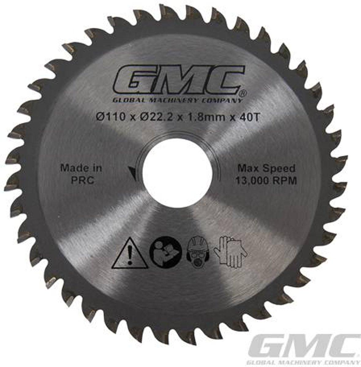 GTS1500 Hardmetaal gepunt cirkelzaagblad 110 x 22,2 x 40 t