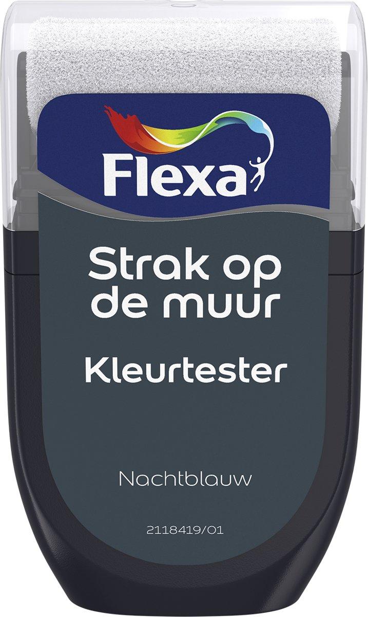 Flexa Strak op de Muur Tester - Watergedragen - Mat - nachtblauw - 0,3 liter kopen