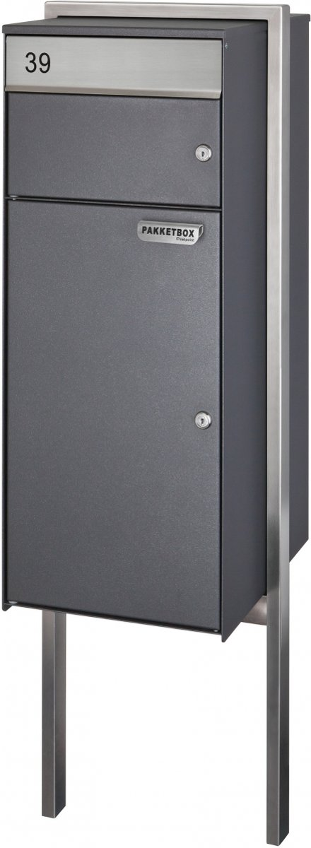 Post- pakketbrievenbus vrijstaand model (Antraciet)