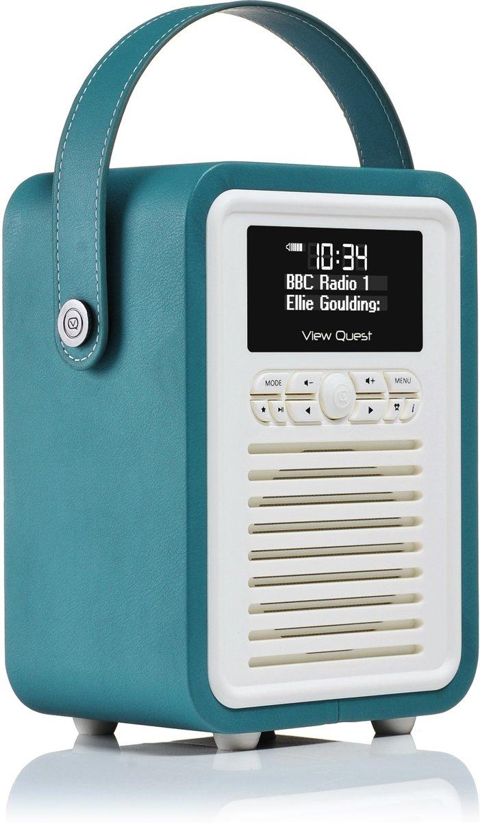 Betere bol.com | ViewQuest Retro Mini Radio & Bluetooth DAB Teal XX-17