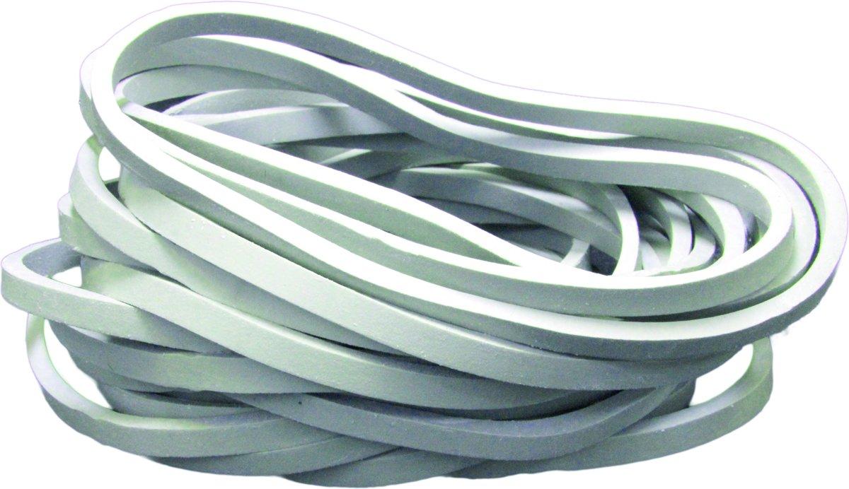 Tent Elastiek –grijs - diameter 90mm - zak 100 stuks - breedte 5x5 mm - Elastiekjes – Elastieken kopen