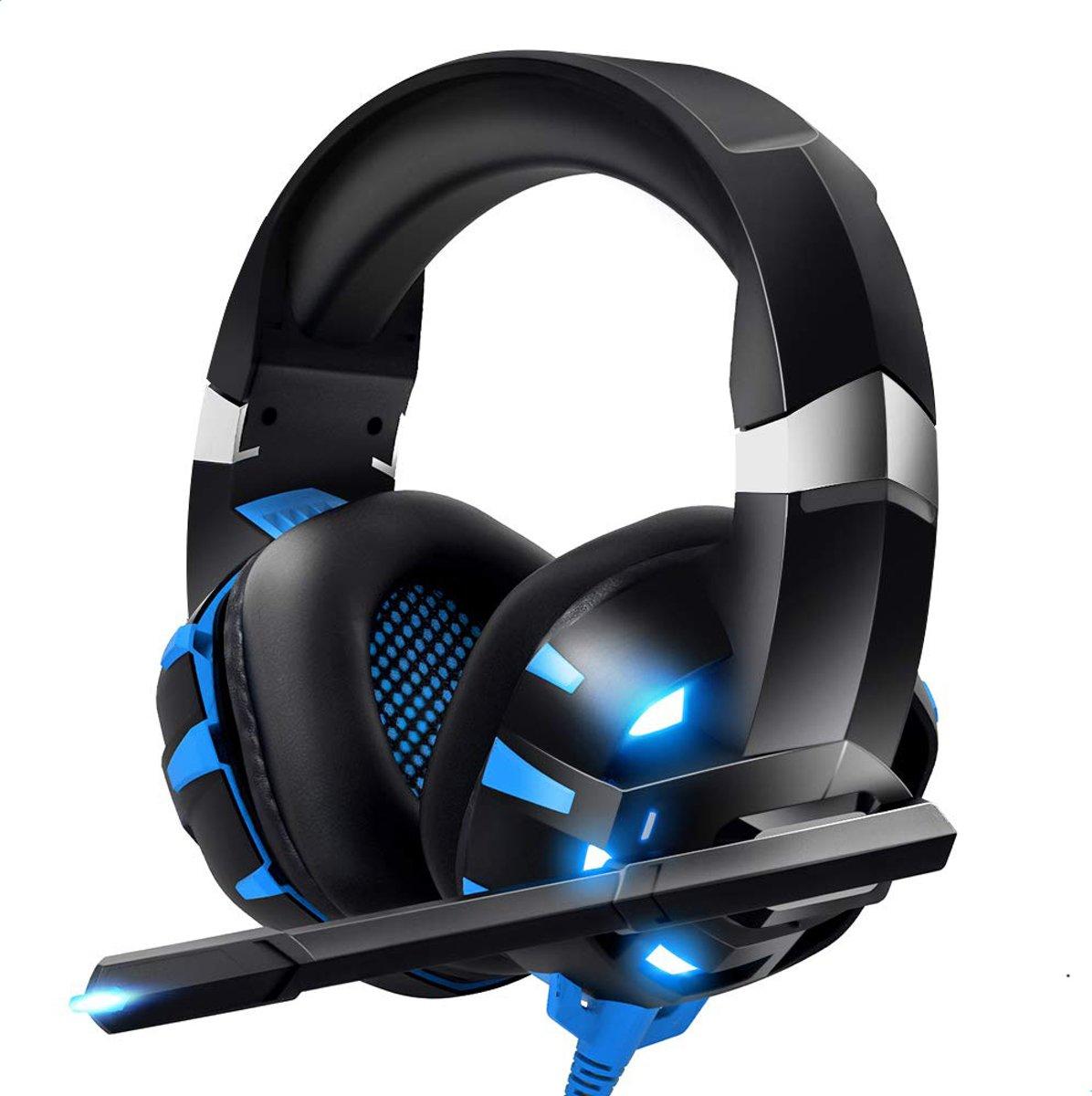 Gaming Headset Blauw | Koptelefoon |7.1 Surround Sound | Microfoon | Noise Canceling | PC, PS4, Xbox One kopen