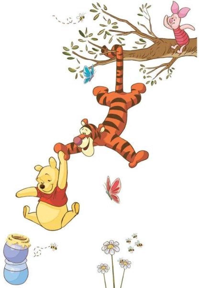 Disney RoomMates Muursticker Winnie the Pooh Swinging for Honey - Multi