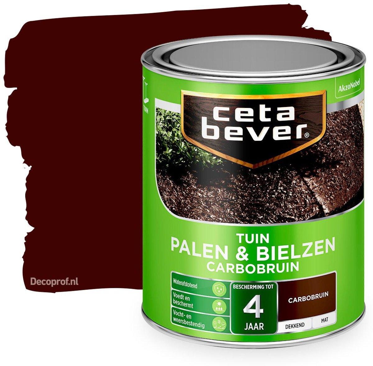 Cetabever Tuin - Beits Palen En Bielzen - Carbobruin - 0,75 liter
