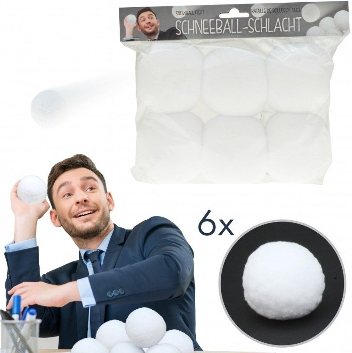 6x Kunstsneeuw sneeuwballen 7,5 cm kopen