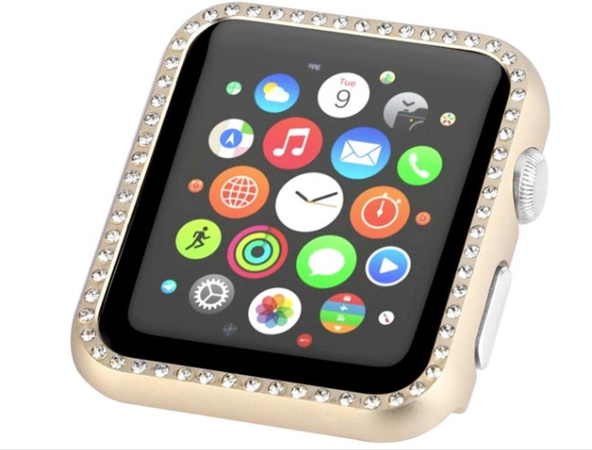 """Bumper """"Diamonds"""" goud geschikt voor Apple Watch 1,2 en 3 - SmartphoneClip kopen"""