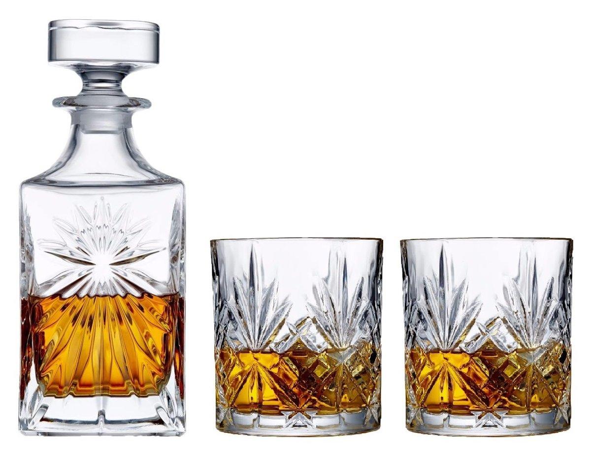 Sareva Whisky Set Whisky Karaf Tumbler Moy 3-Delig kopen