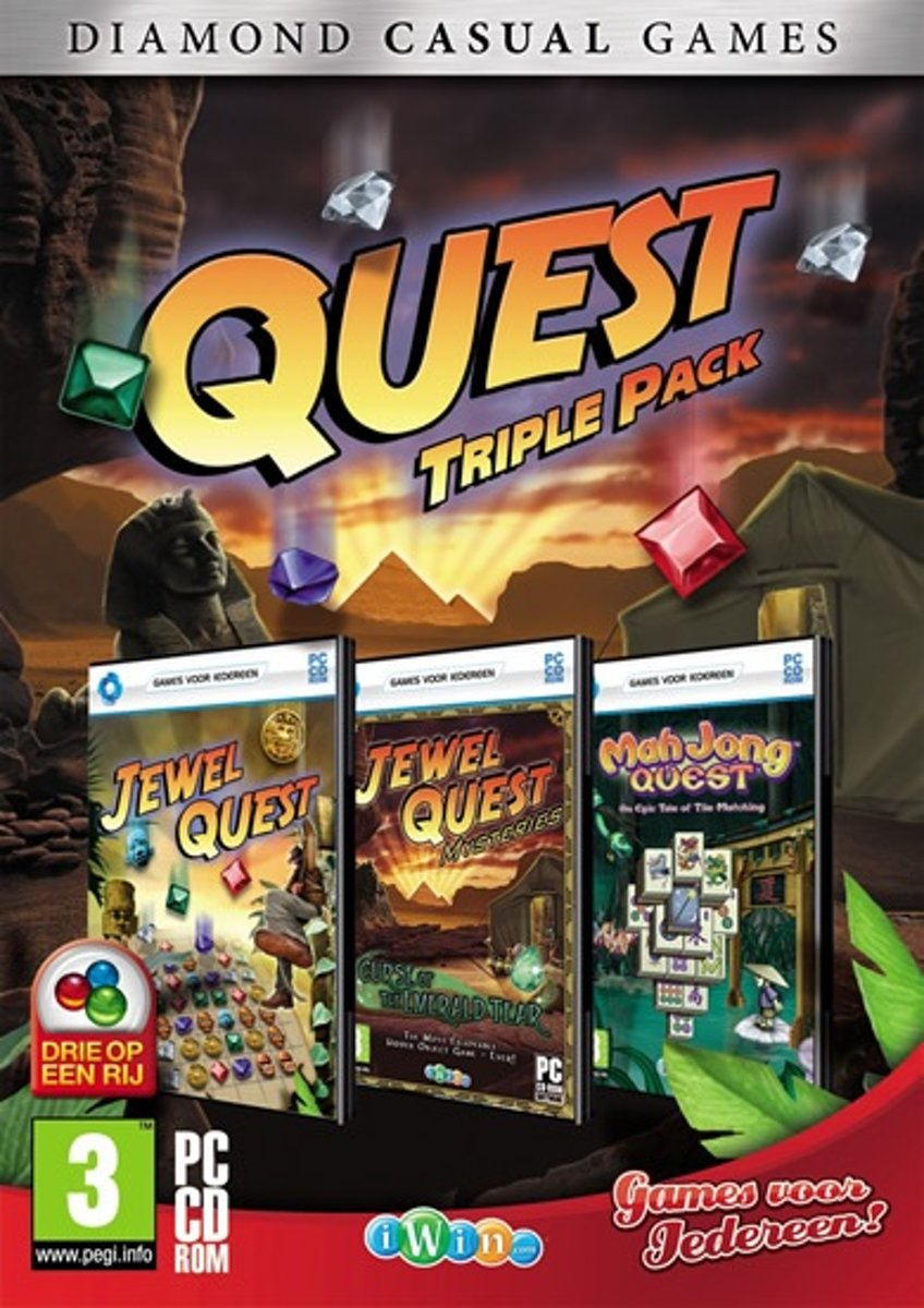 Quest Triple Pack (mahjong Quest, Jewel Quest, Jewel Quest, Mysteries) kopen