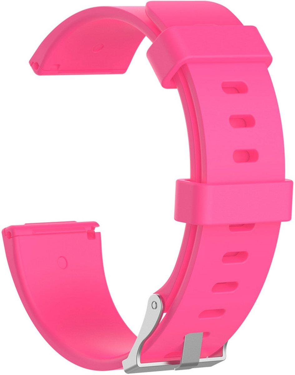 Siliconen armband bandtje polsband voor Fitbit Versa - Kleur - Roze, Maat - L (Large) kopen