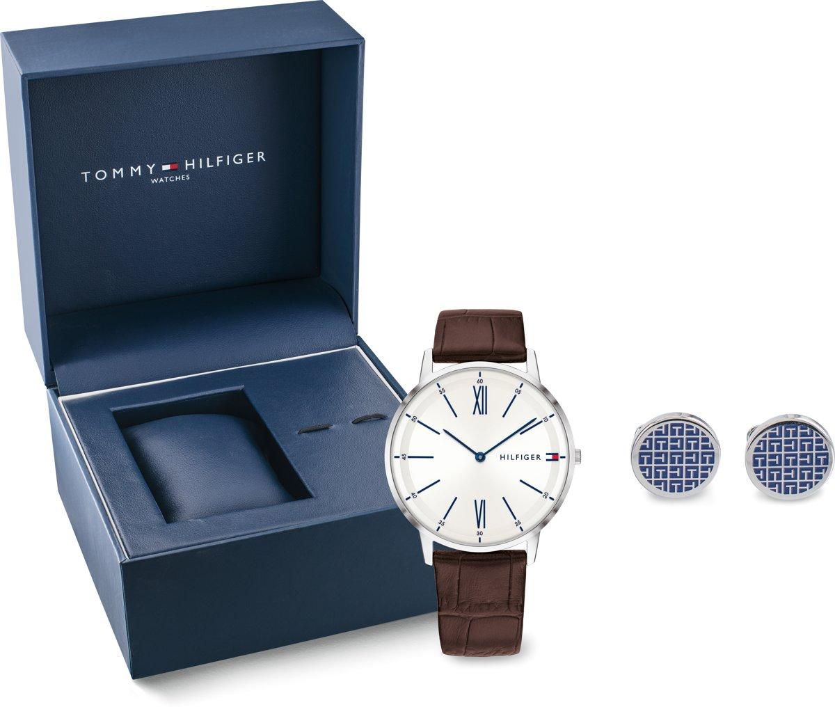 Tommy Hilfiger TH2770031 Giftset horloge heren - bruin - staal kopen