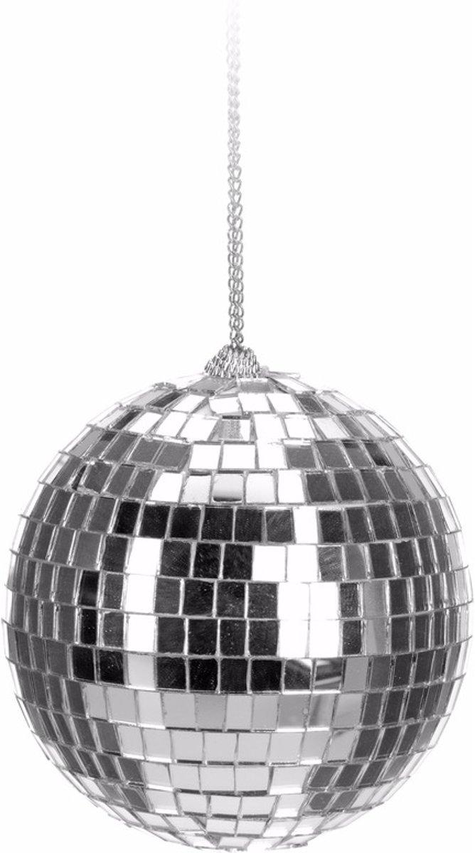 Kerst discobal zilver 6 cm - kerstbal kopen