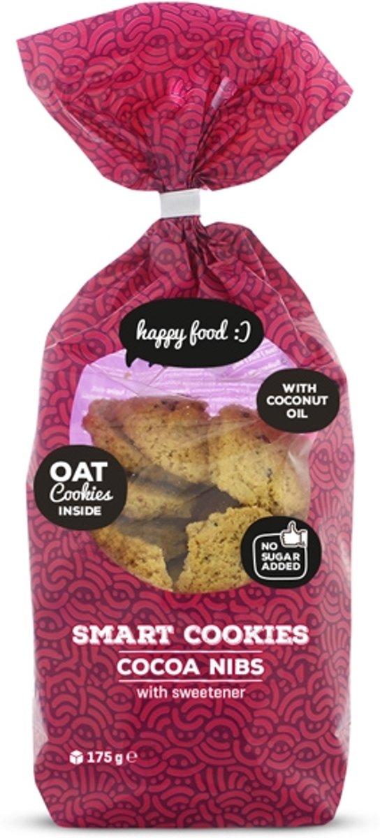 Body & Fit Food Smart Cookies - Suikerarm - 175 gram - Cacao nibs kopen