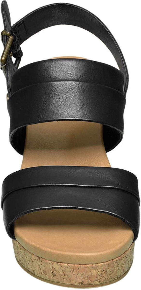 | Graceland Dames Zwarte sandalette sleehak Maat 39