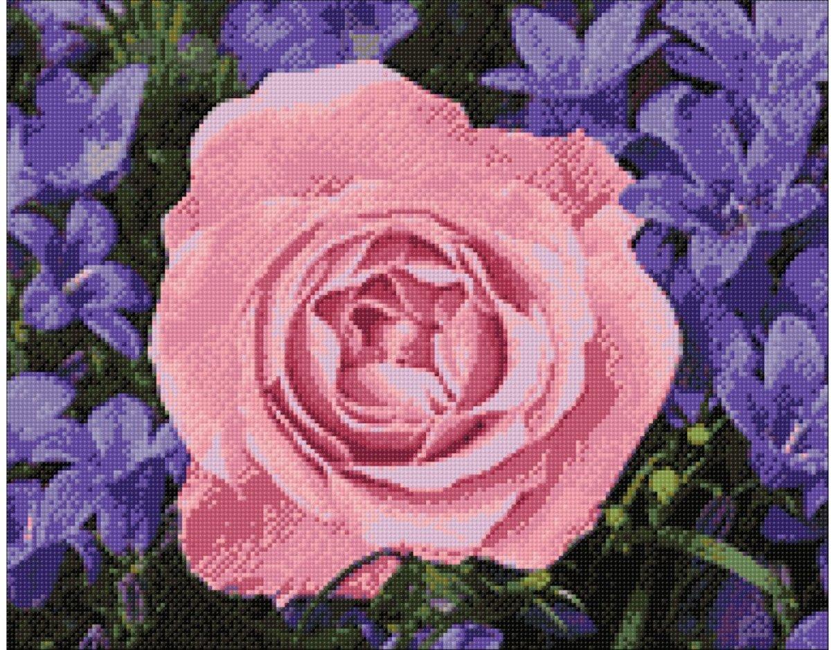 Afbeelding van product Wizardi Diamond Painting Kit Garden Rose WD2308