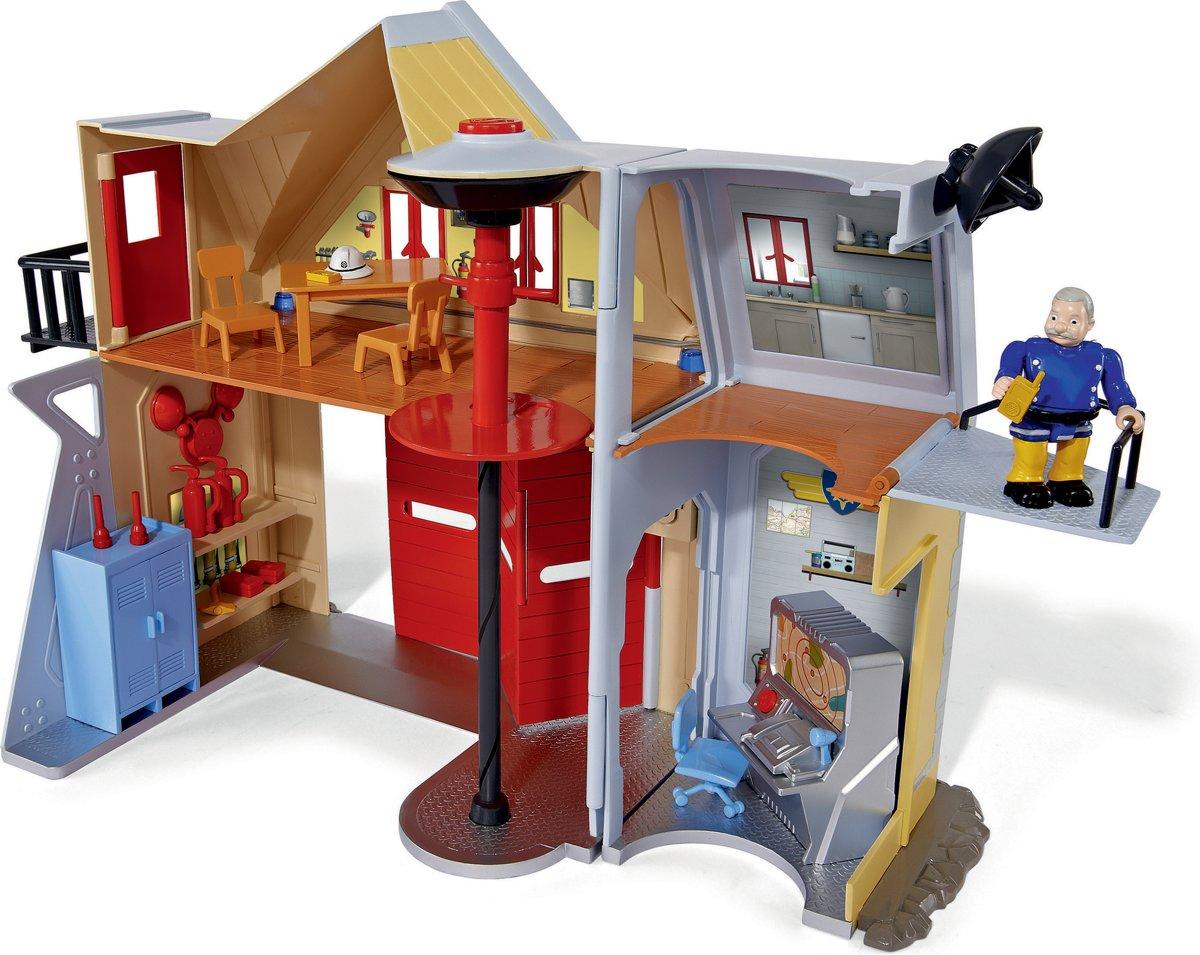 Brandweerman Sam Garage : Bol brandweerman sam brandweerkazerne speelgoed simba