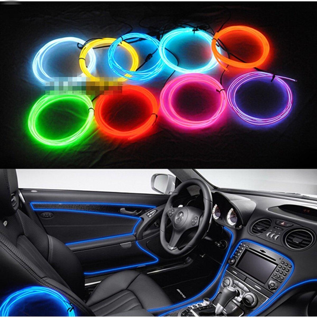 bolcom flexibele led auto neonverlichting interieur 300 cm led strip rood