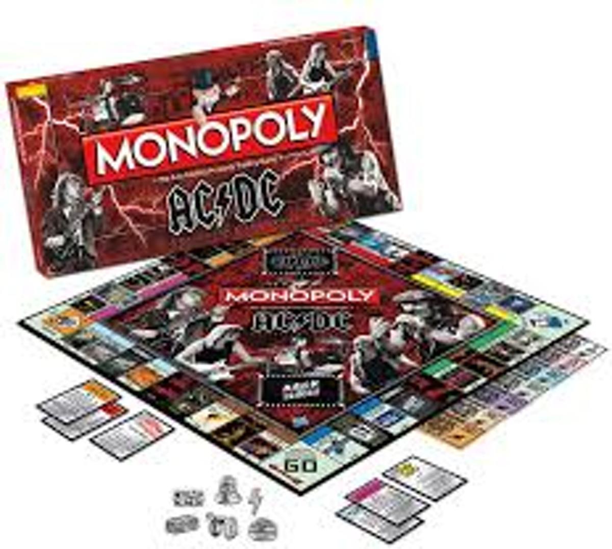 Monopoly ACDC - Engelstalig Bordspel
