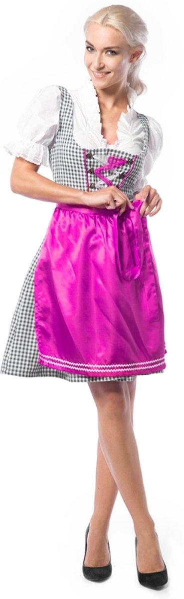 Afbeelding van product partychimp  Oktoberfestjurk Superdeluxe (3dlg) Pink/Paars  - maat 44