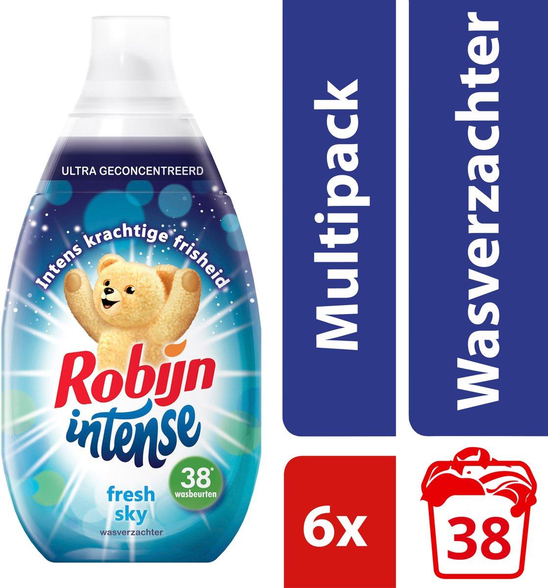 d9af3060601 Robijn Intense Fresh Sky wasverzachter - 228 wasbeurten - 6 x 570 ml