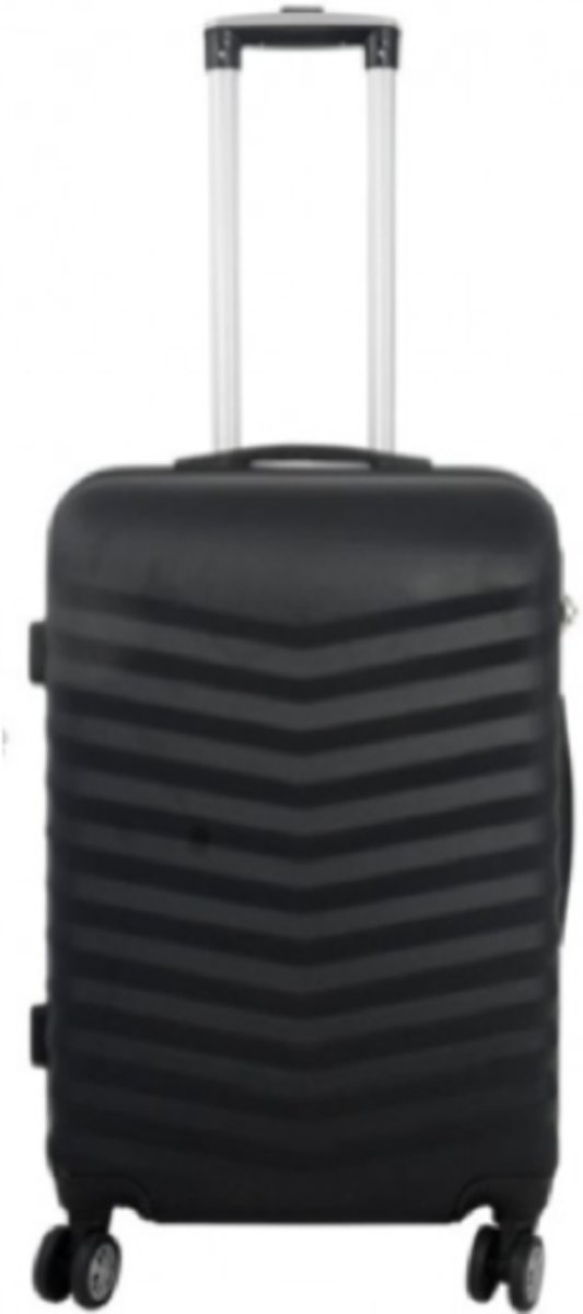 koffer Travelsuitcase kleur zwart | 66cm kopen