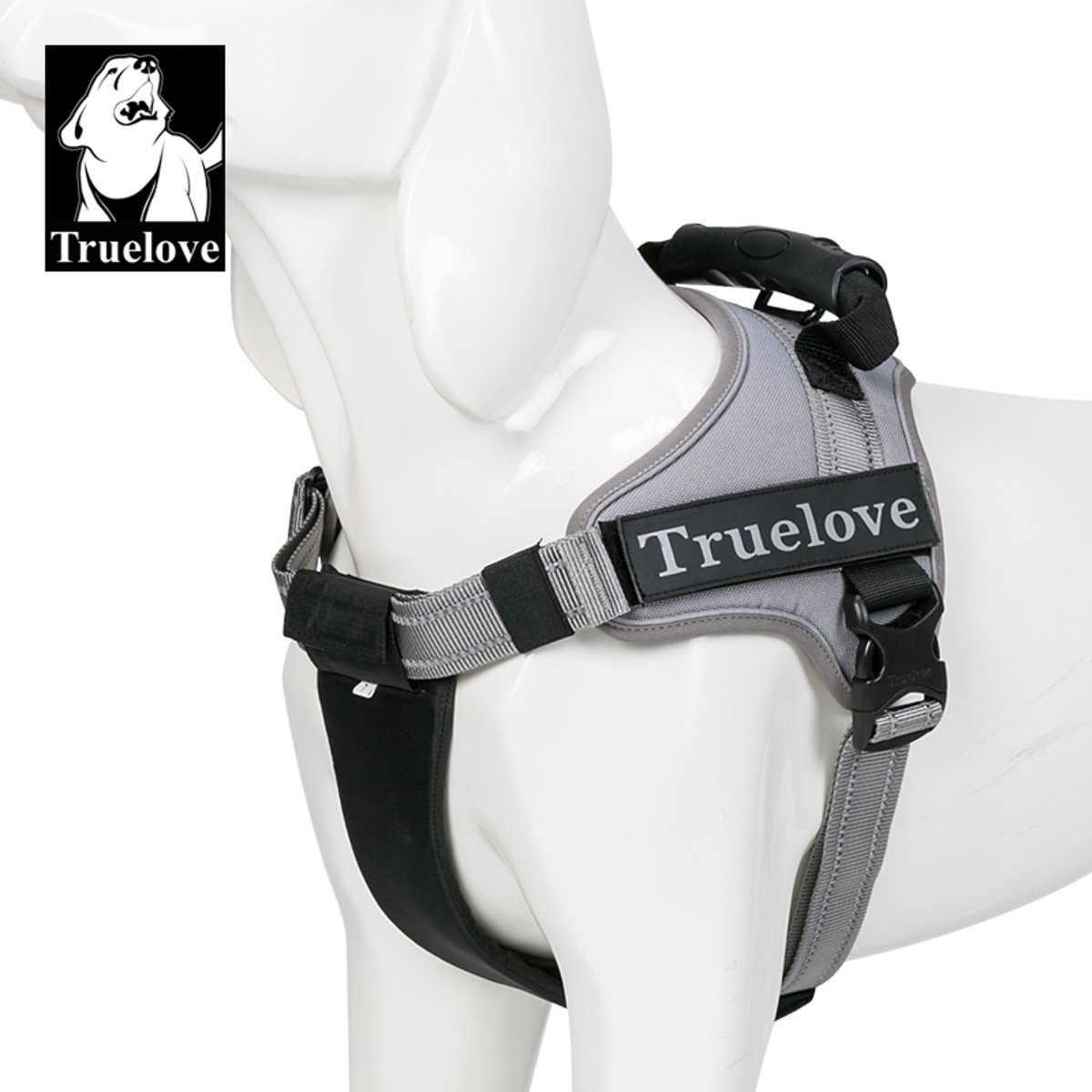 Truelove Hondenharnas - Maat S - 49 - 67 cm - Grijs TLH5753 kopen