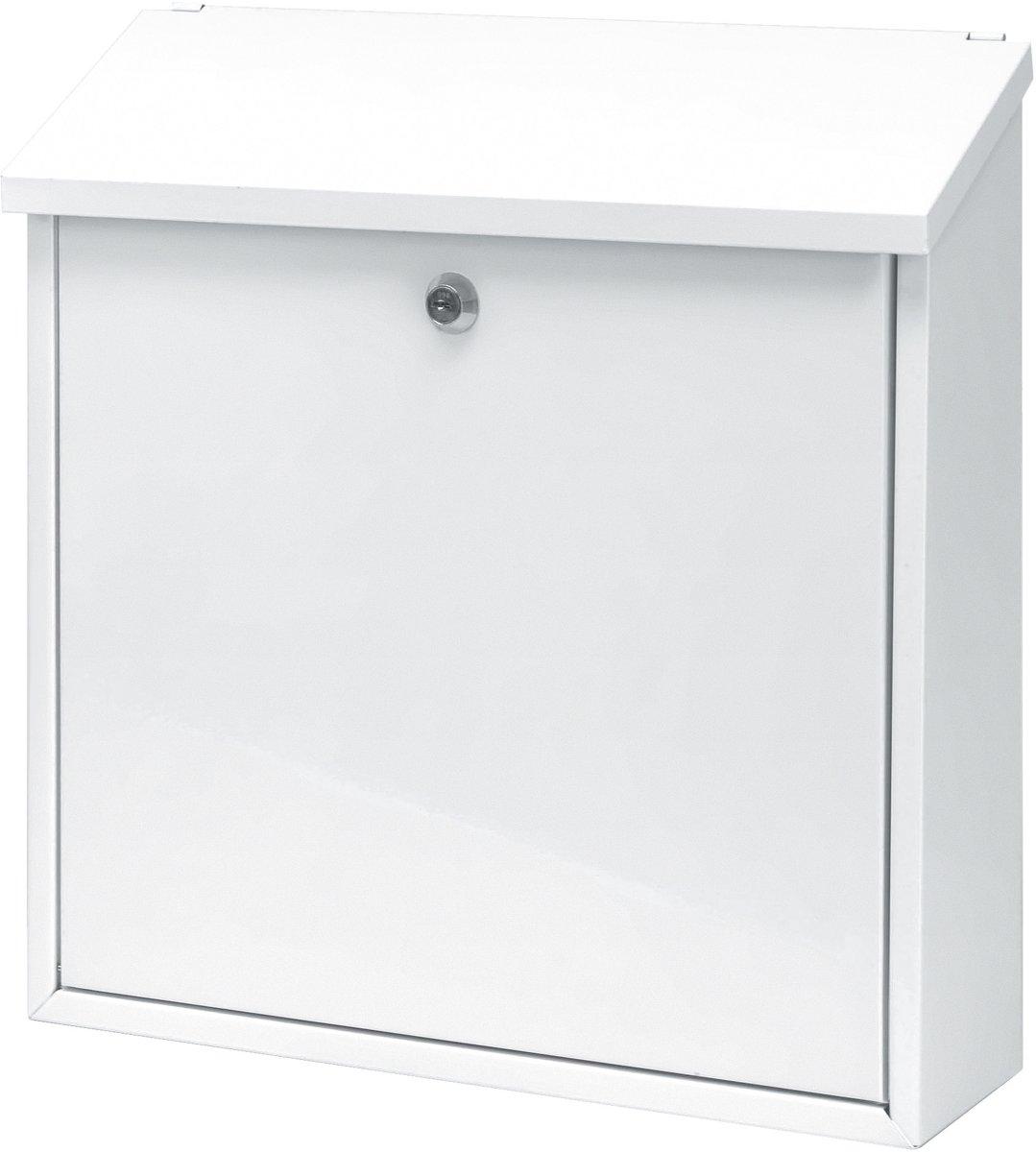 Stalen brievenbus wit - 11,5x37x37 cm