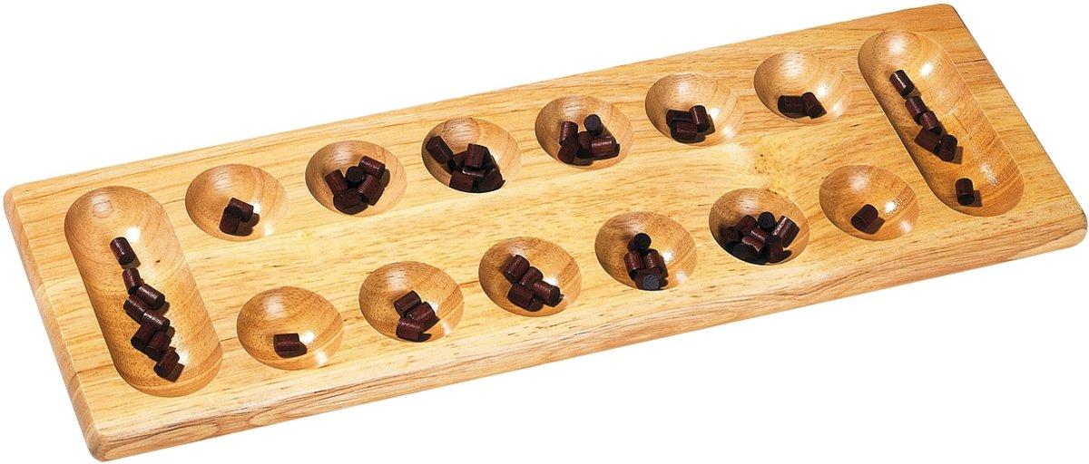 KALAHA-spel 47x15x2.2cm van hout, 8+