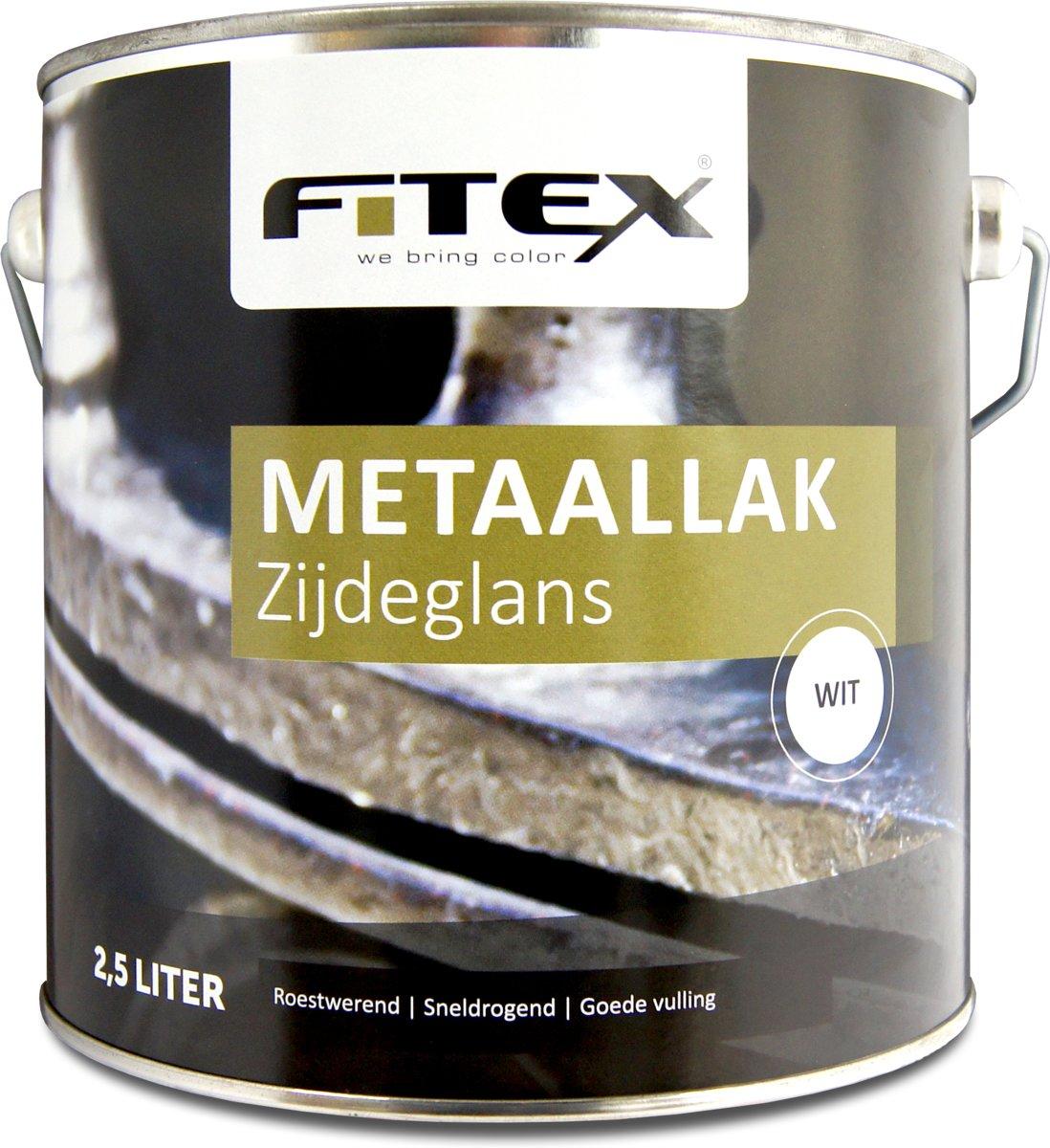 Fitex-Metaallak-Zijdeglans-Ral 9010 Zuiver Wit-2,5 liter