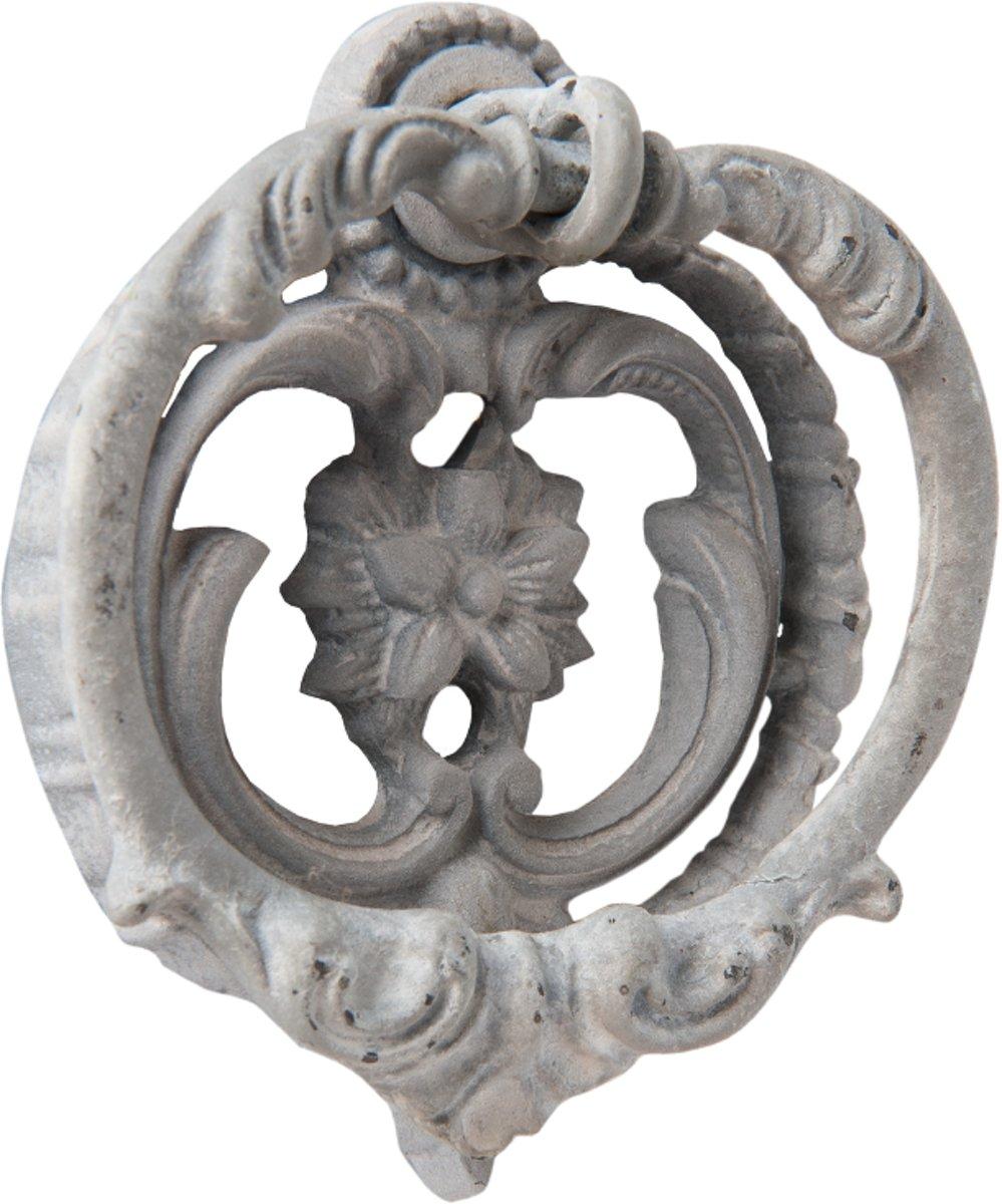 Clayre & Eef Deurklopper grijs 6x2x6 cm kopen