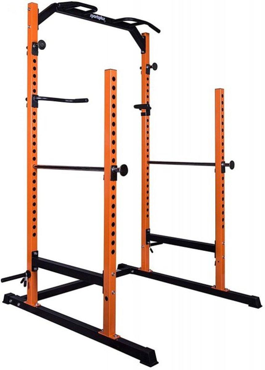 SportPlus SP-HG-020 - Power cage met Lat Pull - Power rack - Kracht optrek rek - oranje kopen