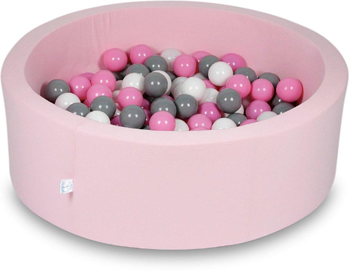 Ballenbak - 200 ballen - 90 x 30 cm - ballenbad - rond roze