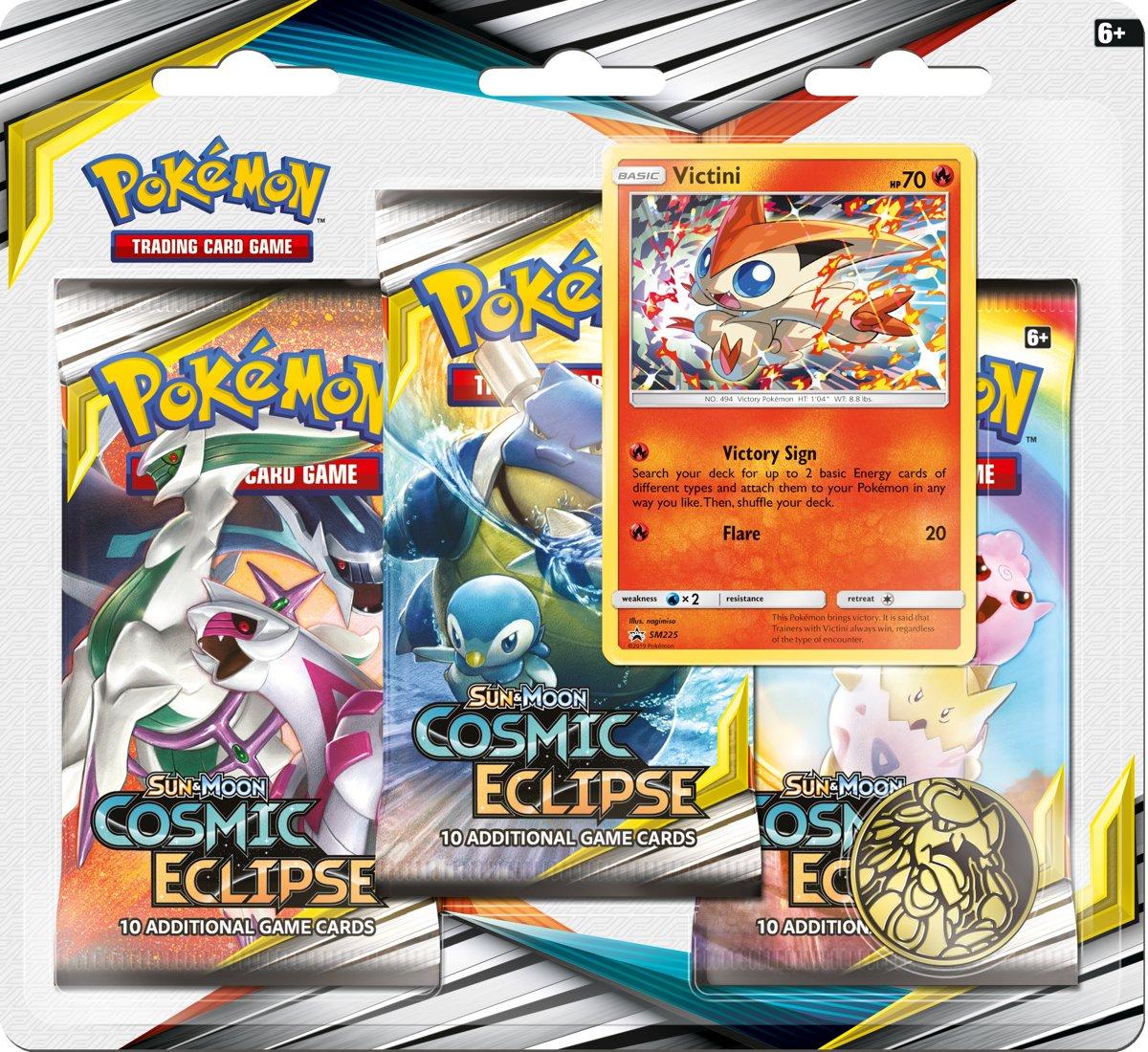 Pokémon Sun & Moon Cosmic Eclipse 3BoosterBlister Victini - Pokémon Kaarten kopen
