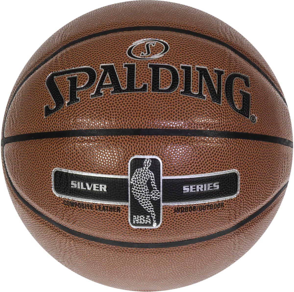 Spalding NBA Silver basketbal- oranje/zwart/zilver - maat 7 - in & outdoor kopen