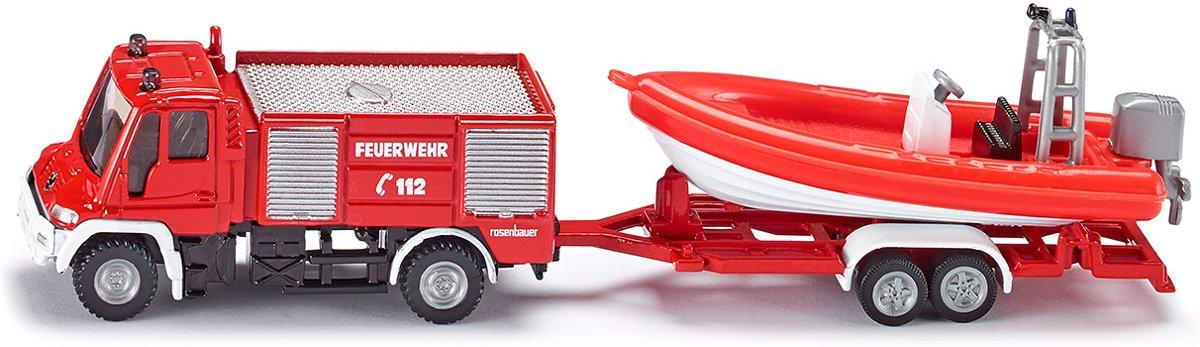 SIKU 1636 Unimog Brandweerwagen met Boot