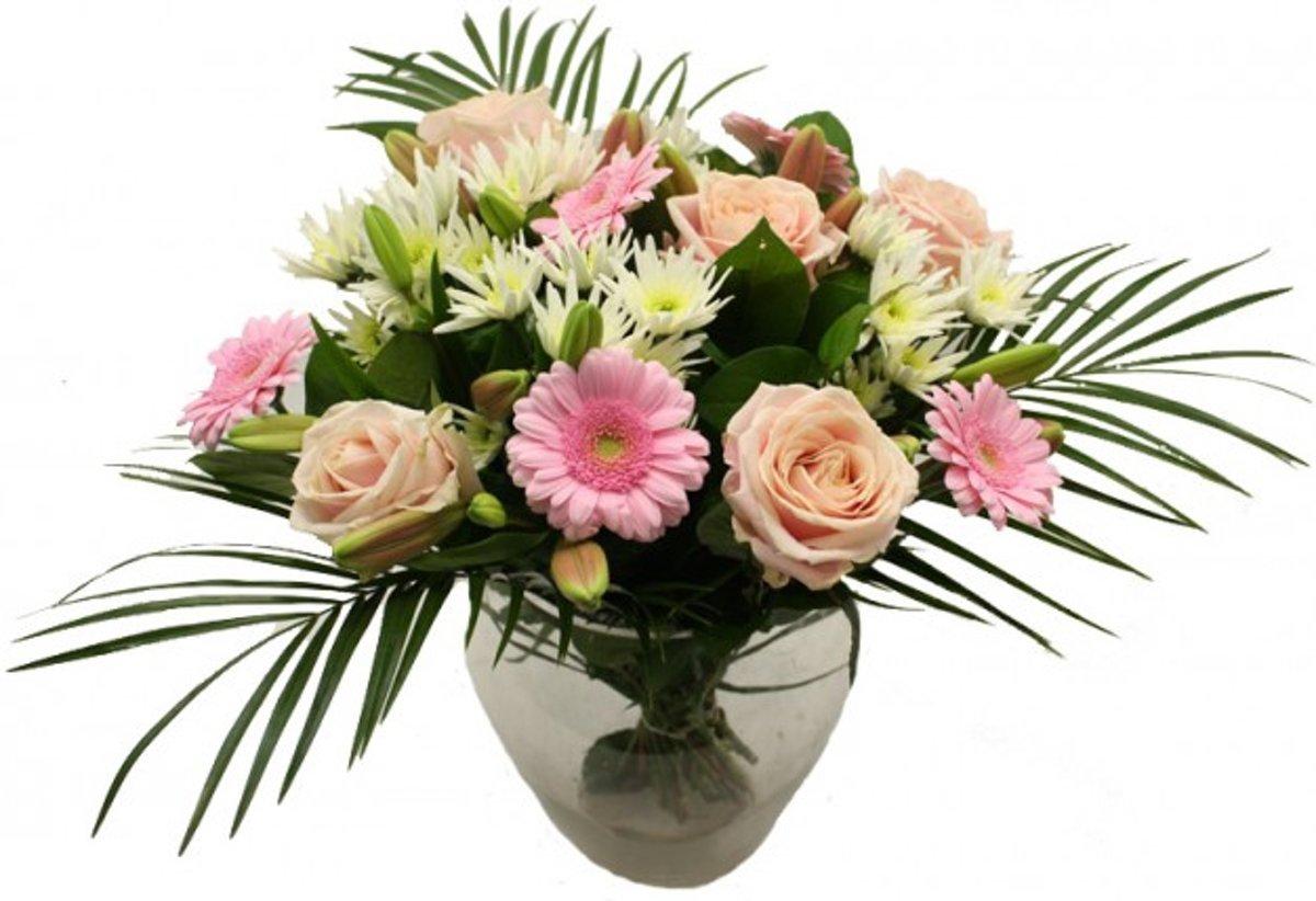 Excuus bloemen boeket roze Blush kopen