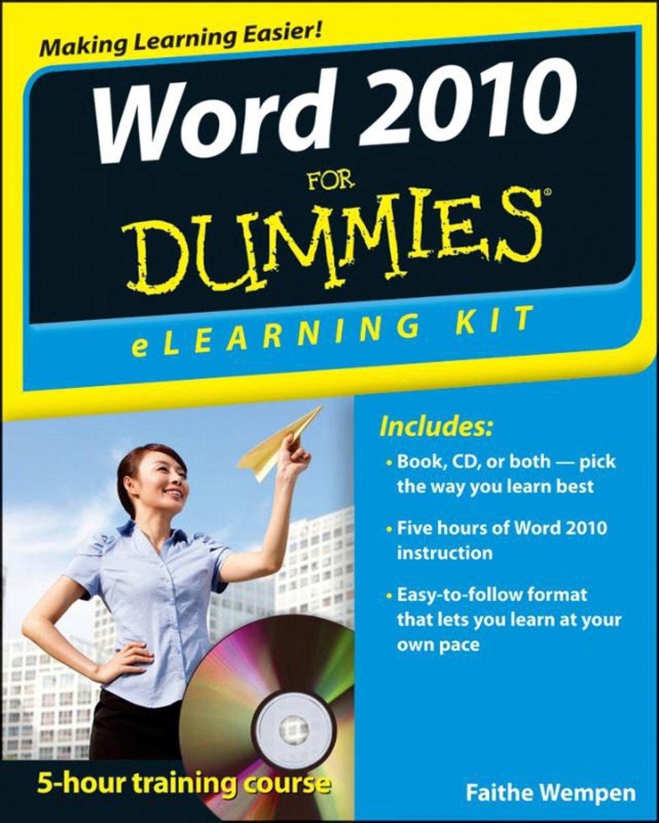 bol.com | Word 2010 eLearning Kit For Dummies, Lois Lowe | 9781118336991 |  Boeken