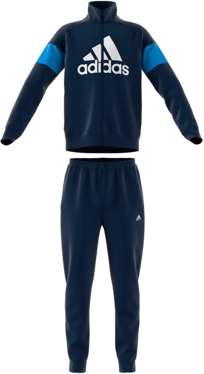 adidas Badge Of Sport trainingspak jongens blauwwit