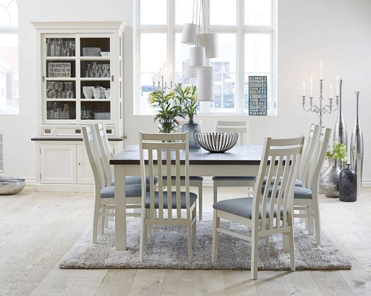 Vierkante Eettafel 150x150 Cm.Bol Com Canett Skagen Vierkante Eetkamertafel 150x150 Cm Wit Grijs