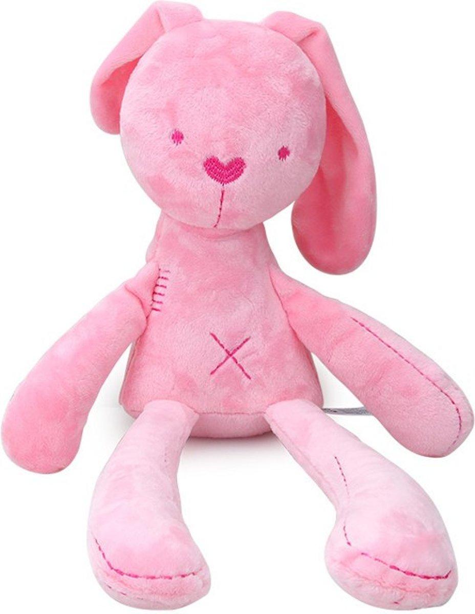Afbeelding van product BBSKY  Konijn Pluche Knuffel - Konijn roze 50 cm.