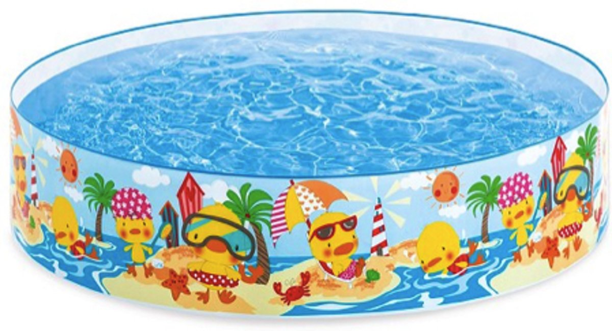 Intex SnapSet Kinderzwembad met Harde Rand Ø 122 x 25 cm