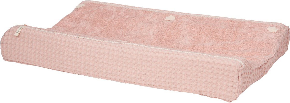 Koeka Aankleedkussenhoes wafel Amsterdam - shadow pink