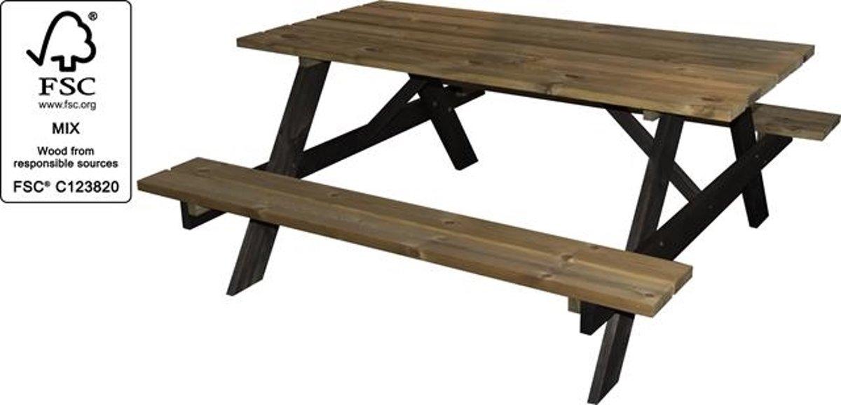 Picknicktafel AMBIANCE grenenhout met zwarte poten kopen