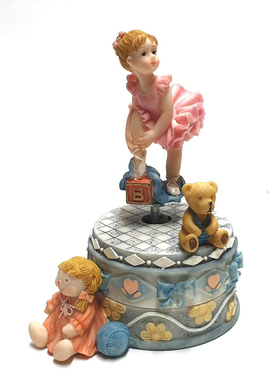Afbeelding van product Speeldoosje ballerina 16 cm – muziekdoos speel doosje   GerichteKeuze