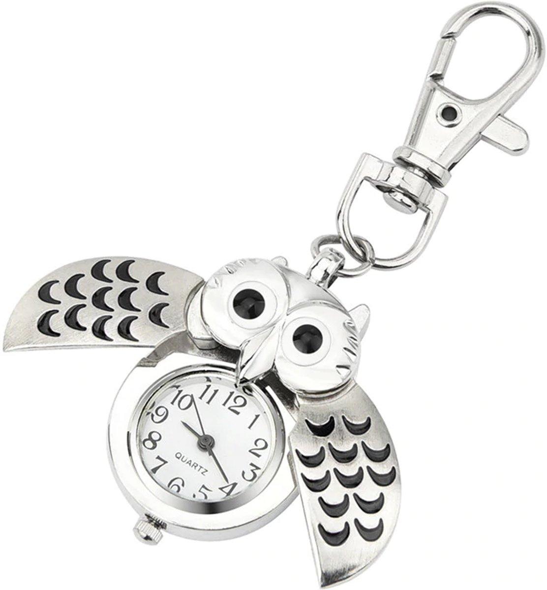 Kinder Horloge Zwarte Uil - Zakhorloge - Jongen - Meisje kopen
