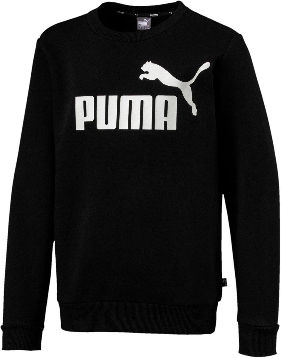 PUMA ESS Logo Crew Sweat FL B Kinderen Cotton Black Maat 152