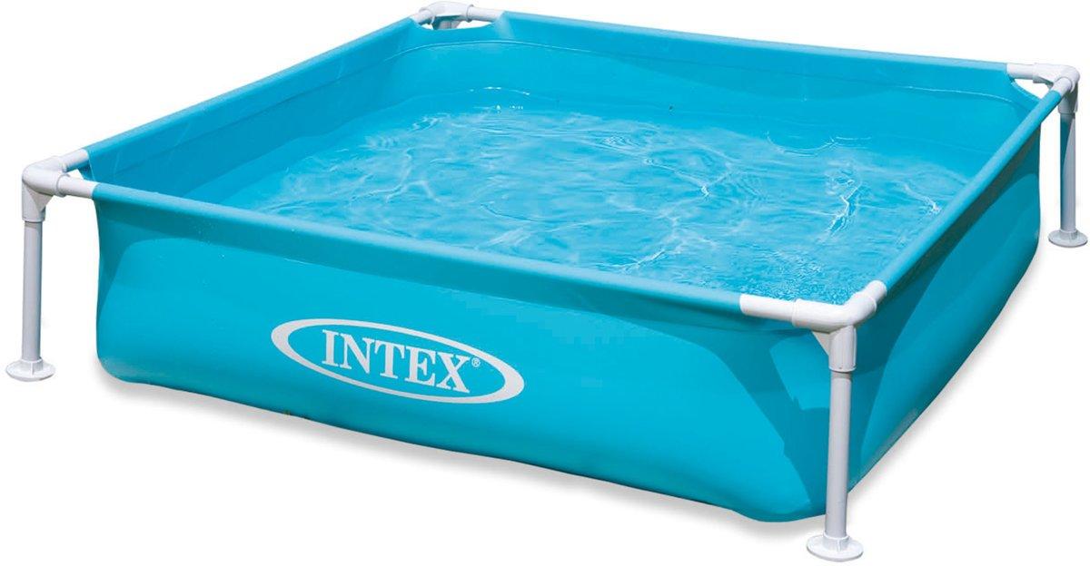 Intex mini frame zwembad - 122x122 centimeter - blauw